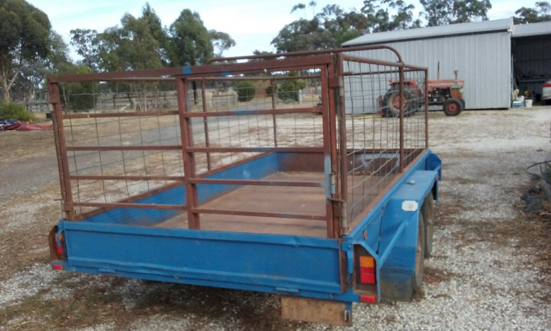 Trailer with Stock Crate. LDK  Engineering Trailer