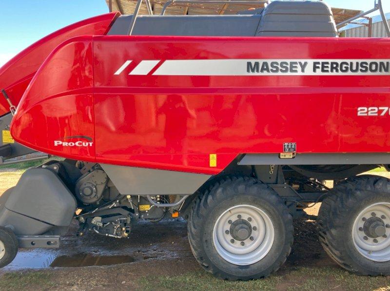 Under Auction - (A146) - 2018 Massey Ferguson 2270 Square Baler - 2% + GST Buyers Premium On All Lots