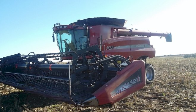 Under Auction - (A146) - Case 9120 Header with 40ft Draper Front - 2% + GST Buyers Premium On All Lots
