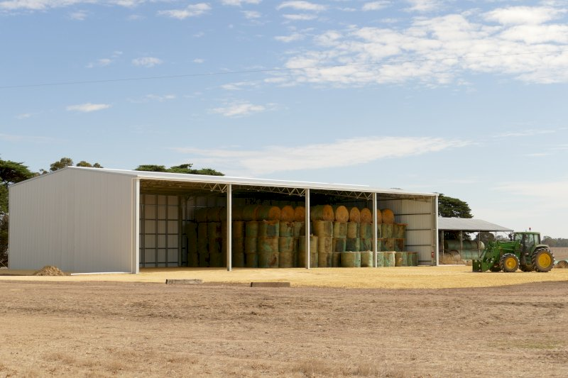 Action Steel 15m x 32m x 6m Hay Shed (860 Bale Capacity)