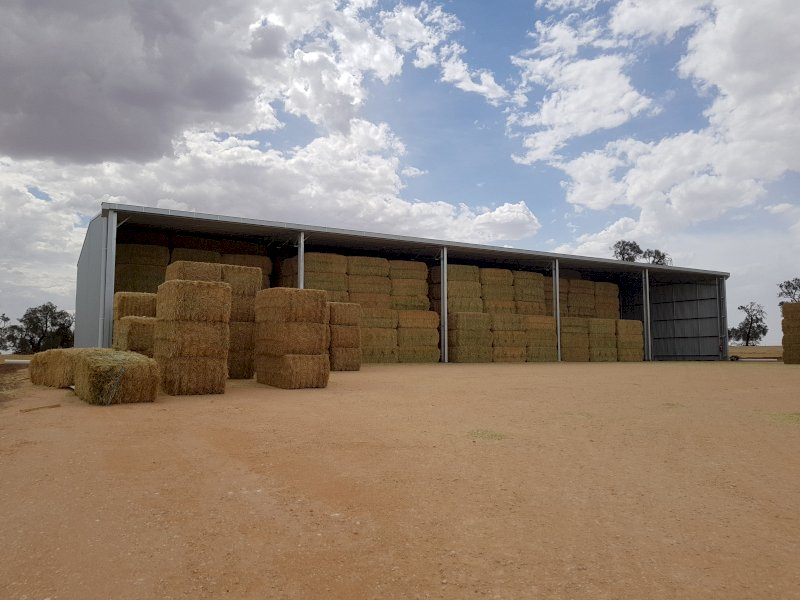 Action Steel 18m x 40m x 6m Hay Shed (1300 Bale Capacity)