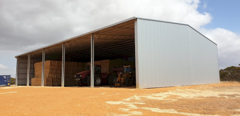 Action Steel 24 x 40 x 7.5 Hay Shed (2250 Bale Capacity)