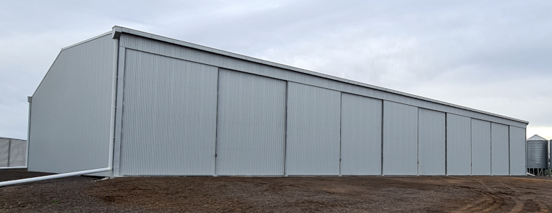 Fully Enclosed Action Steel Machinery Shed