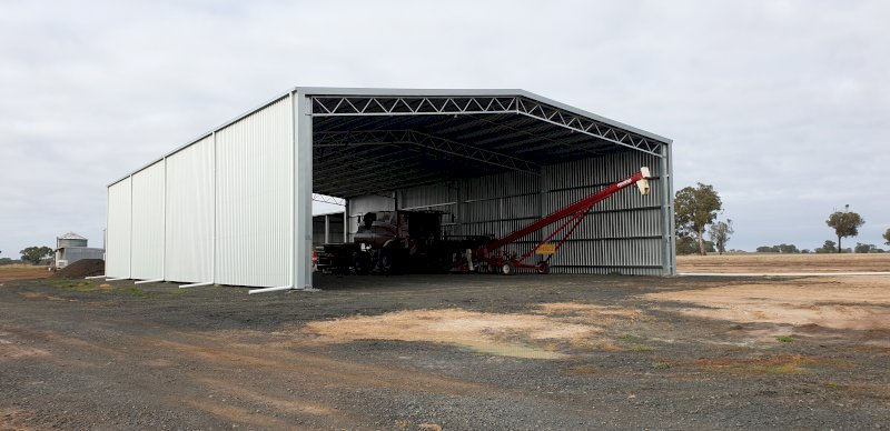 Drive Through Fully Hot-Dip Galvanised Action Steel Machinery Shed