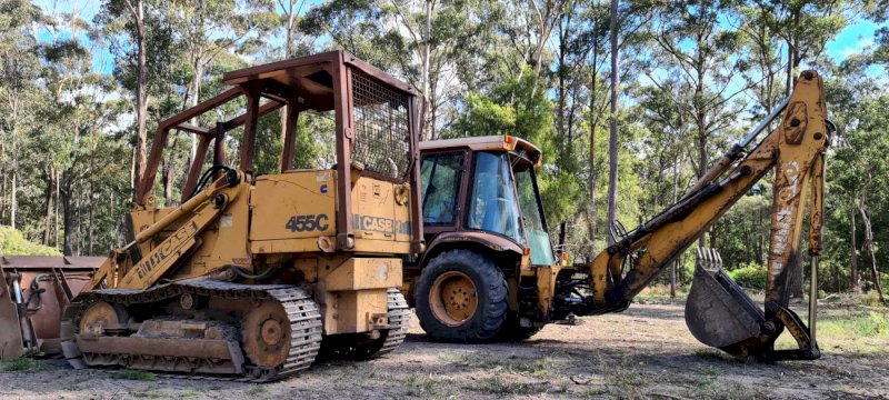 Case 580k 4WD  Backhoe and Case 455C Traxcavator.