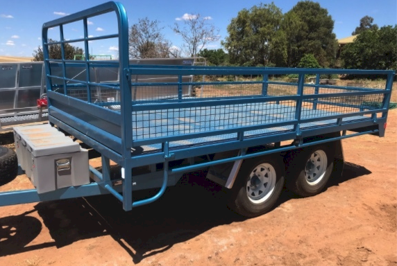 12 x 7 Flat Top Tandem Trailer with Sides - See Crate options