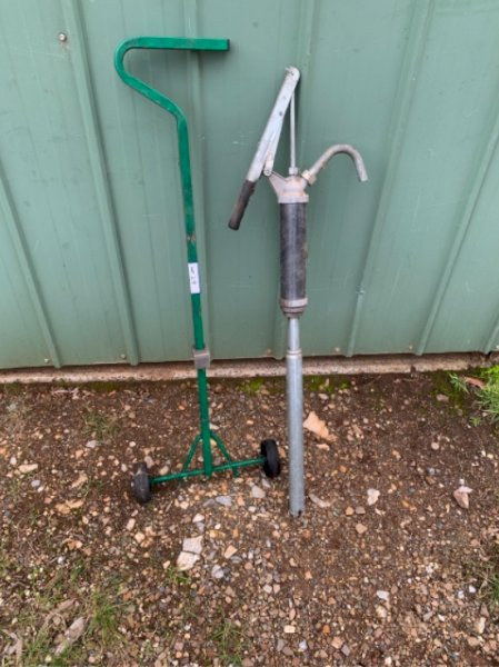 Under Auction - (A151) - 60Ltr Drum Trolley & Pump - 2% + GST Buyers Premium On All Lots