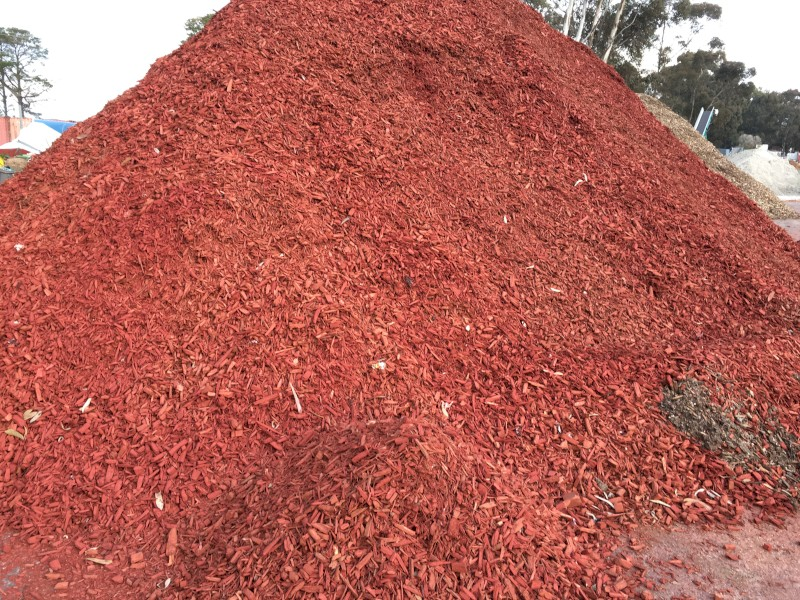 Red Garden Mulch