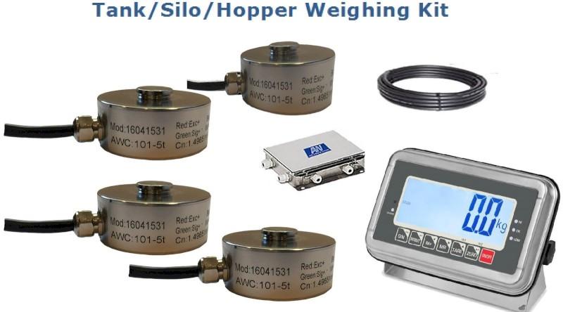 Tank /Silo/ Hopper Weighing kit (St steel) 2500kg   (2.5t)