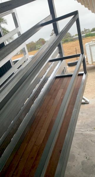 Wood's Steel Industries  Heavy Duty Adjustable Cattle Ramp Aussie Made!