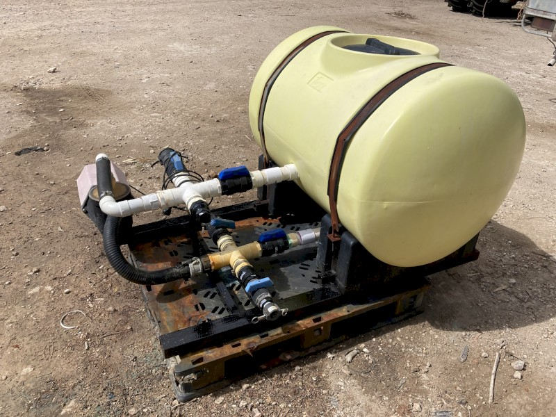 Chemical batching unit with 500L tank