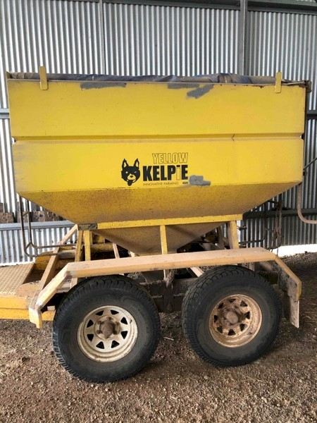 Yellow Kelpie Feed-Out Trailer